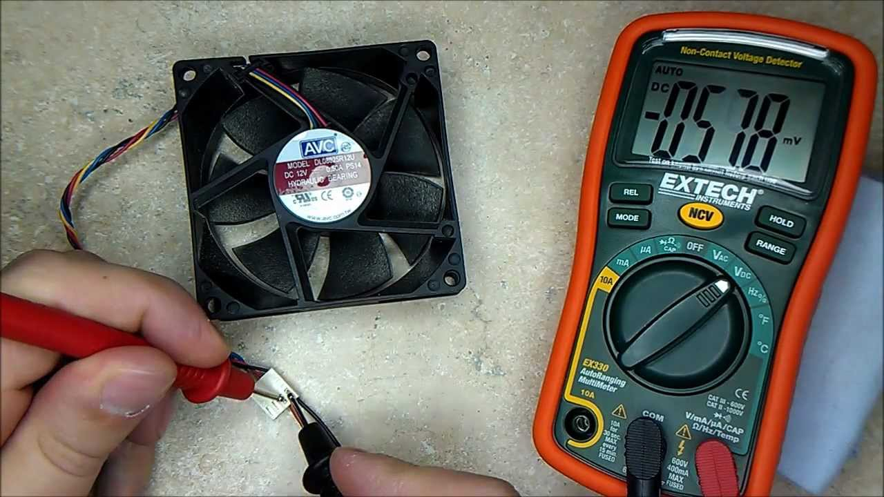 How To Test A Faulty? Computer Fan. - Youtube - Wiring Diagram For Laptop Cooling Fan To Usb