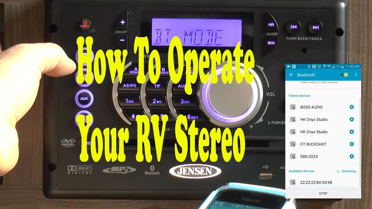 How To Use Your Rv Stereo Jensen Awm968 - Youtube - Jensen Fm/am Radio Stereo Dvd Usb Awm965 Aux Rv Camper Motorhome Trailer Wiring Diagram