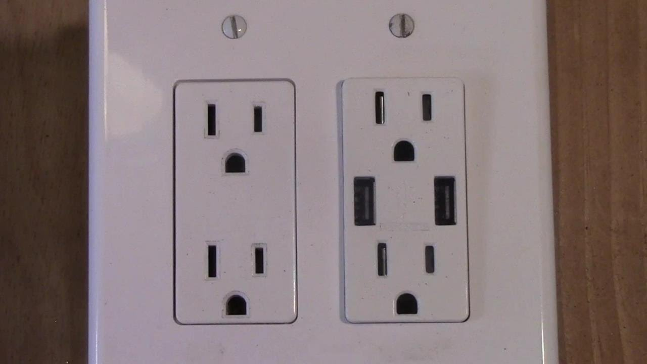 How To Wire A Double Receptacle (Mid Circuit With Usb Charging - Usb Outlet Cover Wiring Diagram