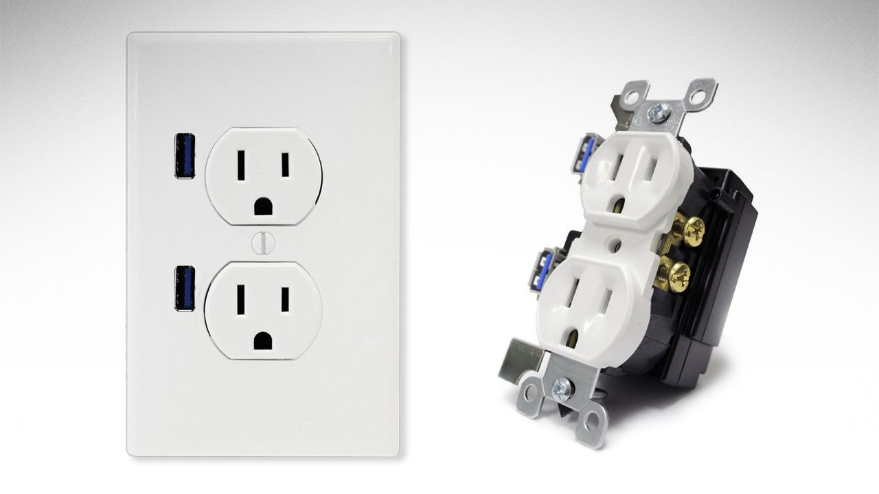 Install An Electrical Outlet With Built-In Usb Ports - Usb Outlet Cover Wiring Diagram