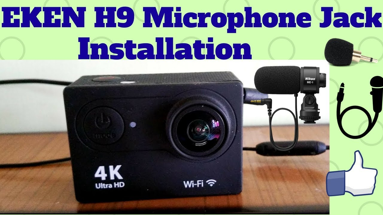 Installing 3.5Mm Plug And Play Microphone Jack In Eken H9 Action - 4K Action Camera Micro Usb Wiring Diagram