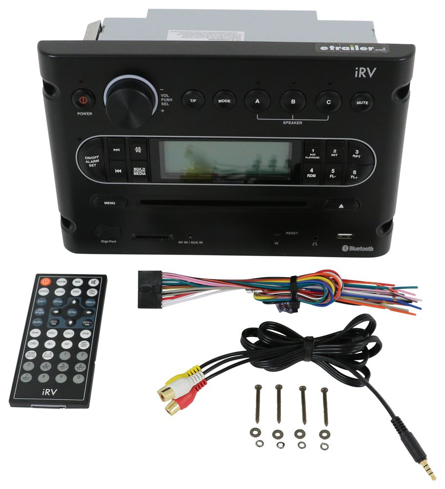 Irv Digital In-Wall Receiver - Bluetooth - Multi Zone Quest Audio - Jensen Fm/am Radio Stereo Dvd Usb Awm965 Aux Rv Camper Motorhome Trailer Wiring Diagram