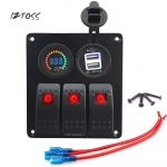 Iztoss Color Led Switch Panel 3.1A Dual Usb Charger Power Socket   Voltmeter Usb Port Switch Rv Wiring Diagram