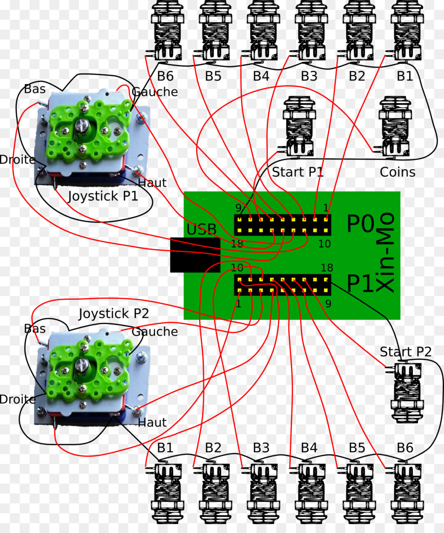 Joystick Arcade Game Wiring Diagram Video Game Push-Button - Usb Joystick Wiring Diagram