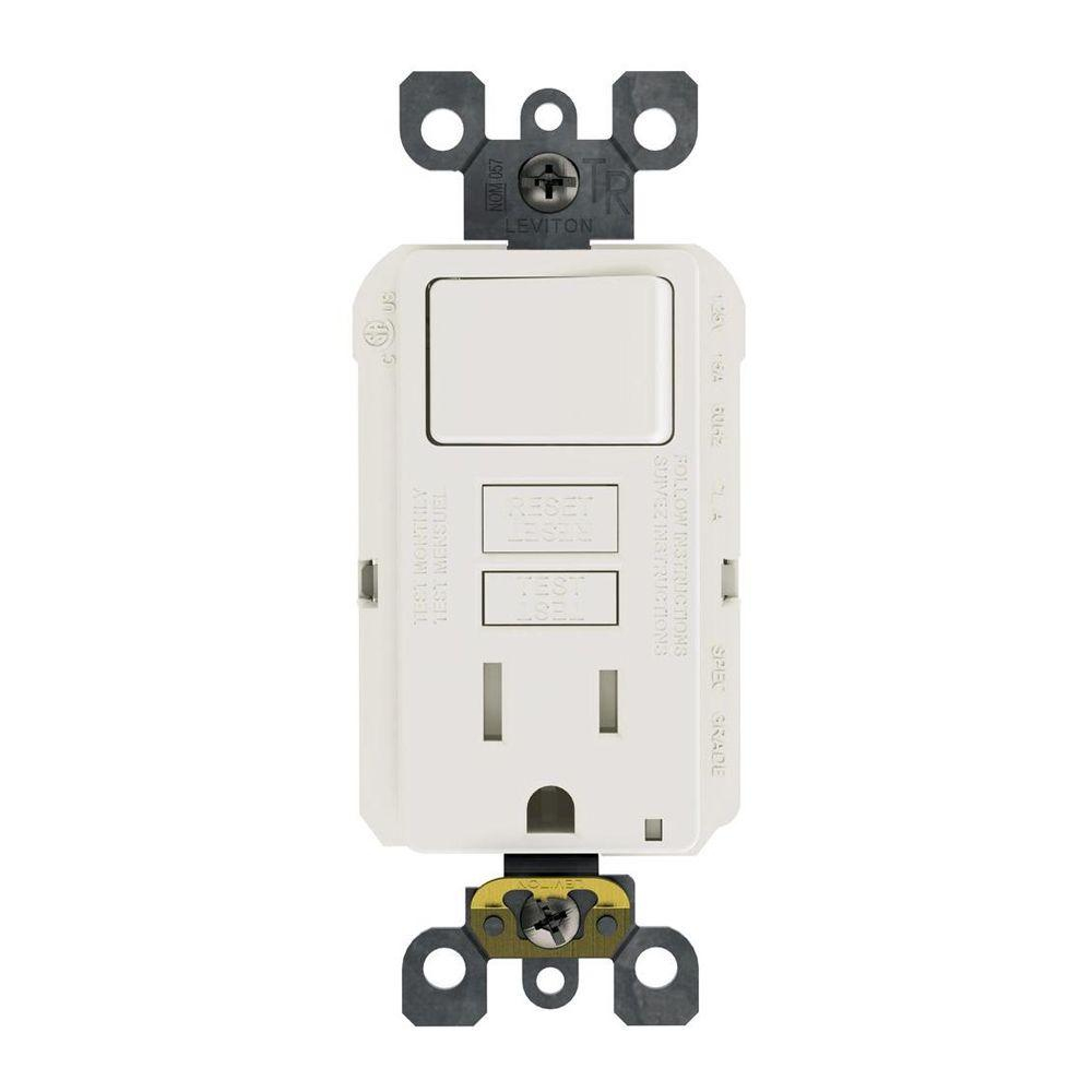 Leviton 15 Amp 125-Volt Combo Self-Test Tamper-Resistant Gfci Outlet - Leviton Usb Outlet Wiring Diagram