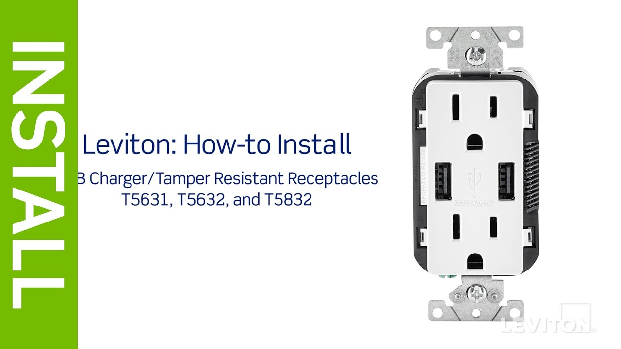 Leviton Presents: How To Install A Usb Charging Receptacle - Youtube - Usb Receptacle Intertek Wiring Diagram