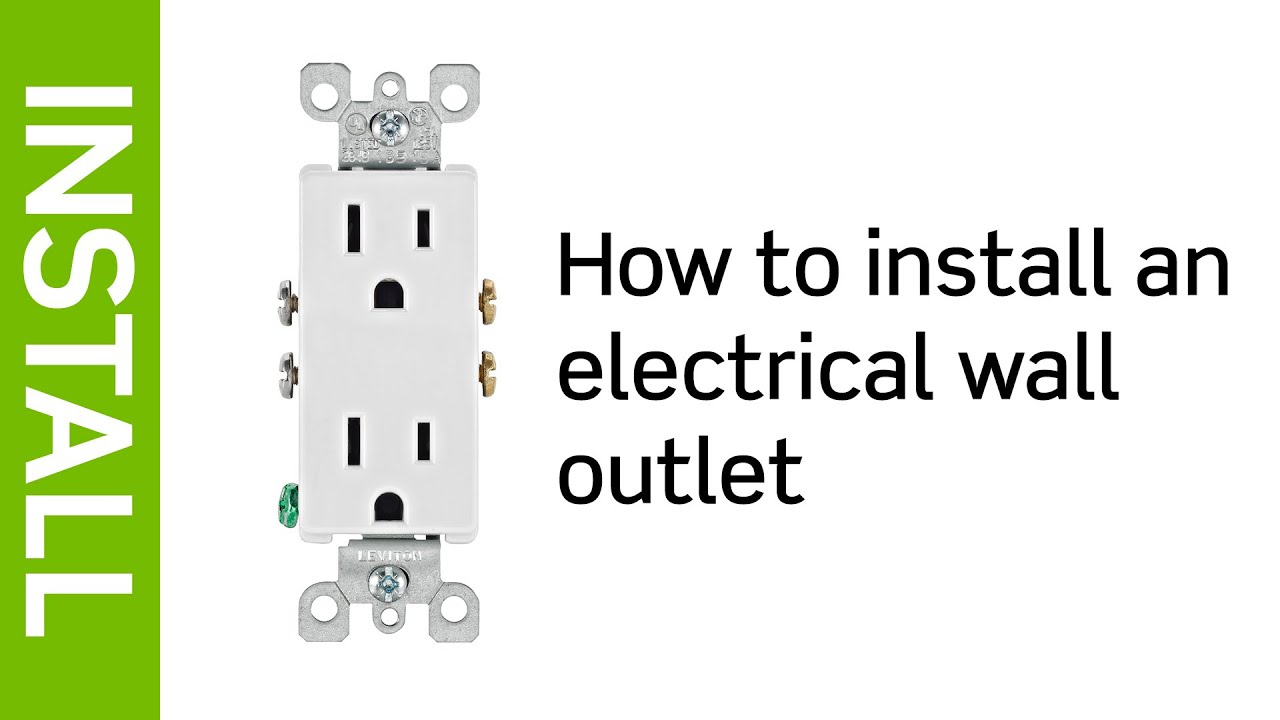Leviton Presents: How To Install An Electrical Wall Outlet - Youtube - Leviton Usb Outlet Wiring Diagram