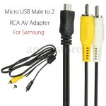 Micro Usb Male To 2 Rca Av Adapter Audio Video Cable For Samsung   Micr Usb Male Plug Wiring Diagram