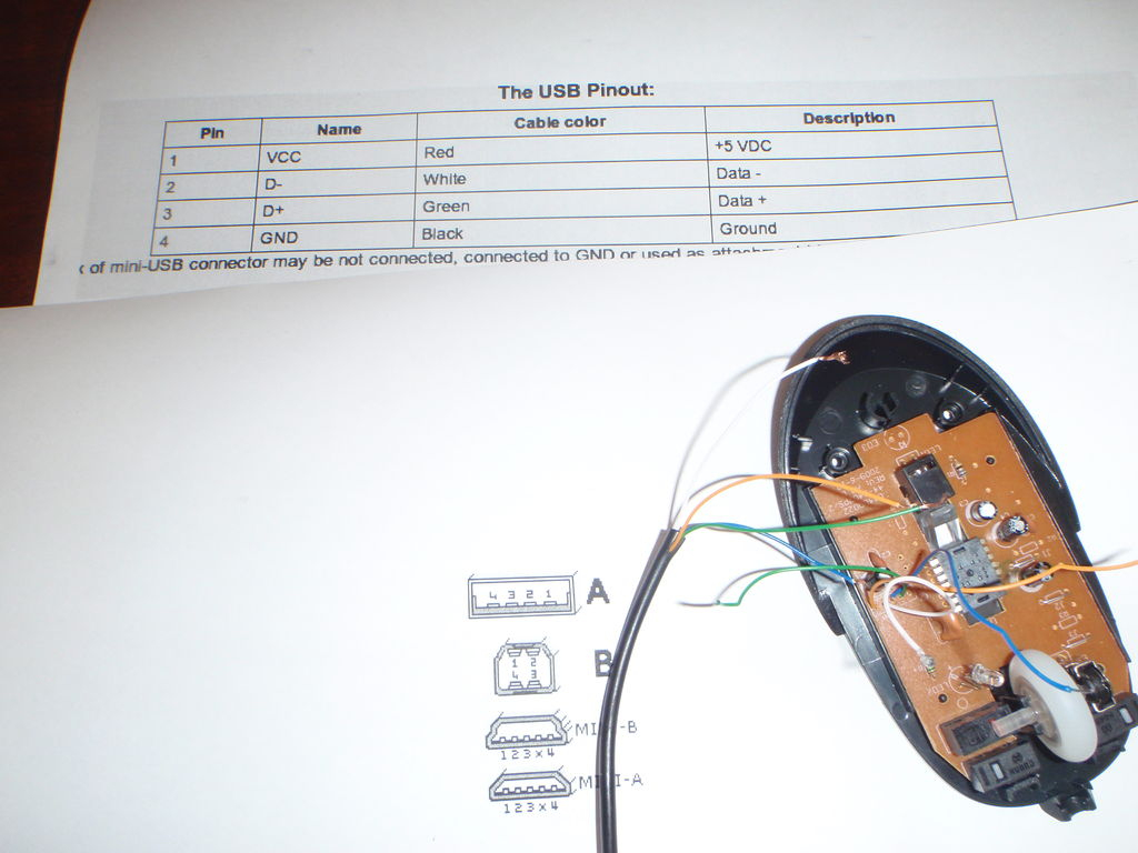 Mouse With Usb Port (Optional Internal Drive): 6 Steps (With Pictures) - Onn Corded Mouse Usb Wiring Diagram