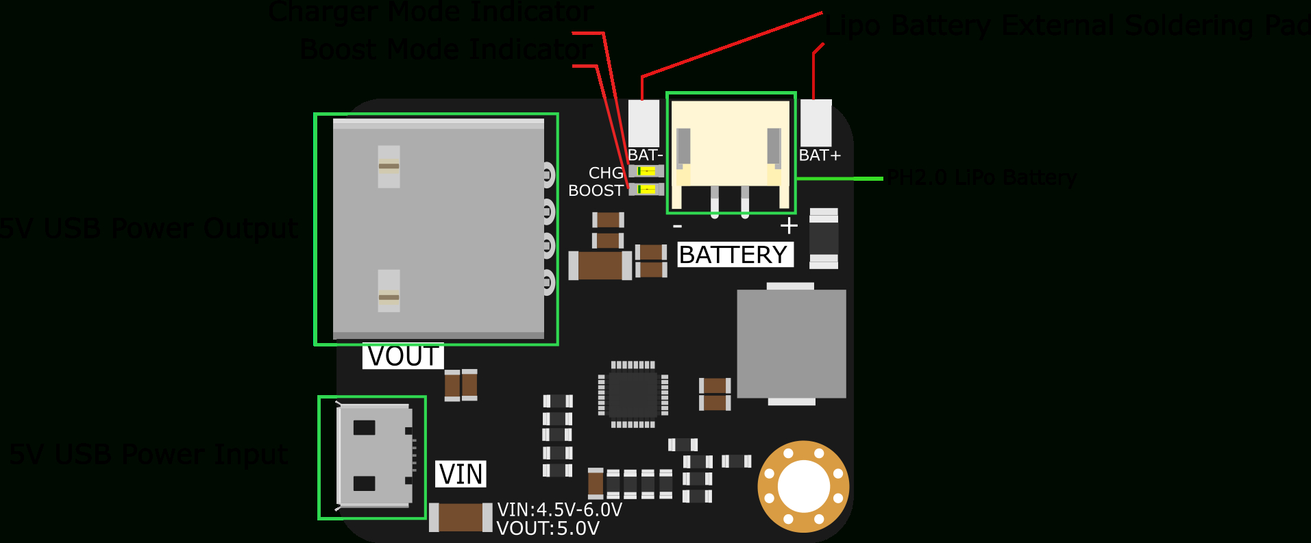 Mp2636 Power Booster & Charger Module - Dfrobot - Usb Battery Charger Wiring Diagram