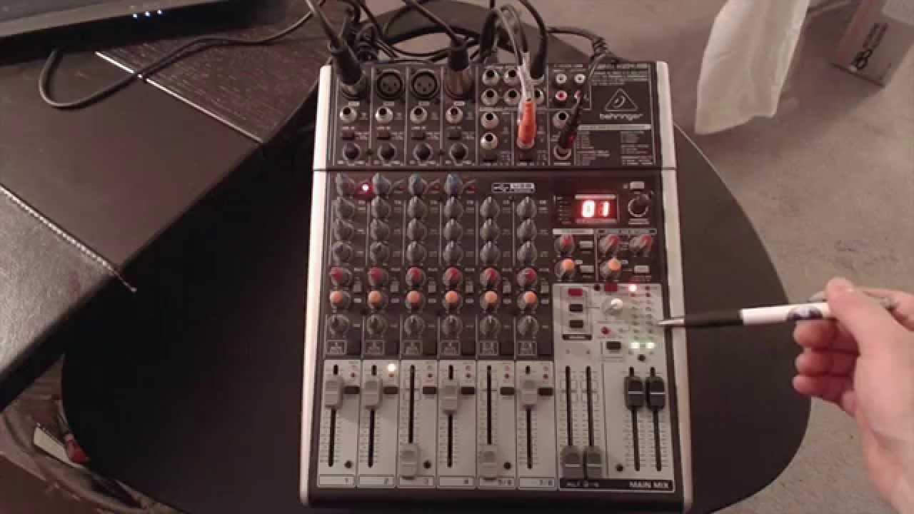 My Mixer Setup, The Behringer Xenyx X1204 Usb With Fx - Youtube - Behringer Q802 Usb Wiring Diagram For Podcasting