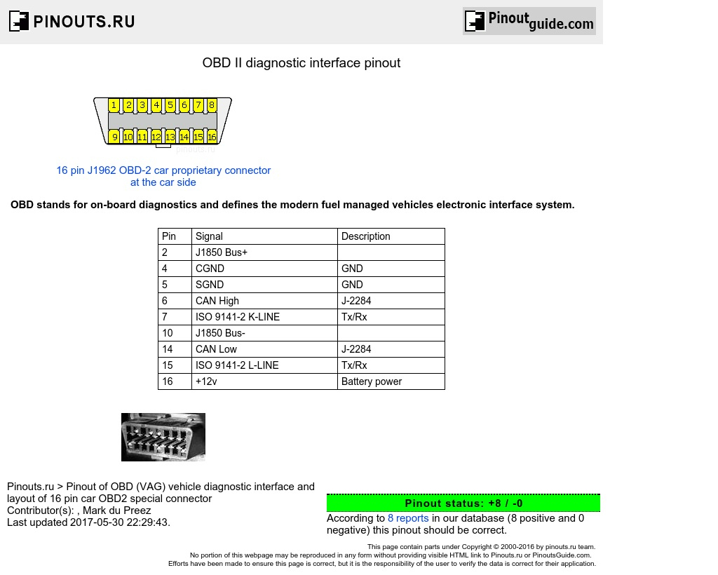 Obd Ii Diagnostic Interface Pinout Diagram @ Pinoutguide - Wiring Diagram Of Obd2 Data Cable To Usb For Pc