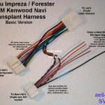 Oem Kenwood Navi Transplant Harness For Subaru Impreza And Forester   2015 Subaru Usb Wiring Diagram