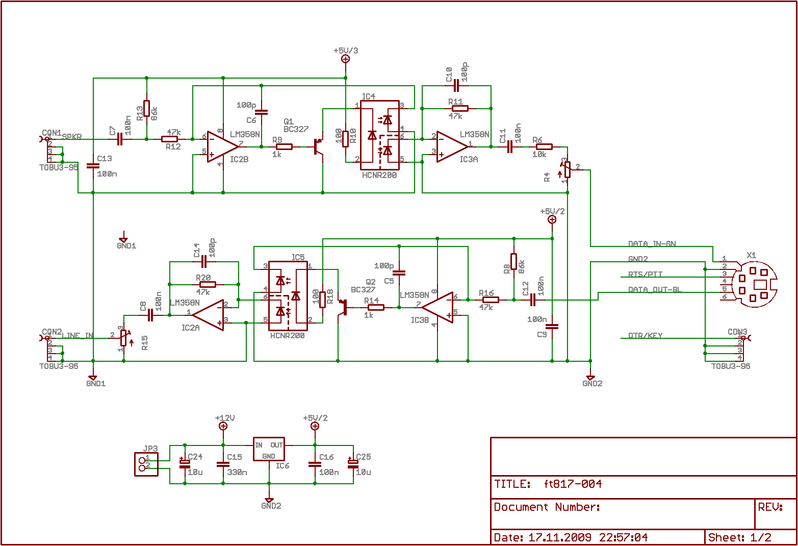 Opto Isolated Cat-Interface For Transceiver Yaesu Ft817 | Www.dl8Nci.de - Optically Isolated Usb Hub Wiring Diagram
