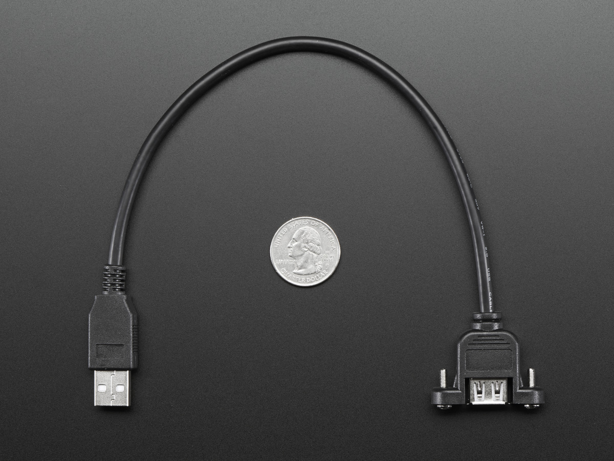 Panel Mount Usb Cable - A Male To A Female Id: 908 - $3.95 - Usb Panel Mount Wiring Diagram