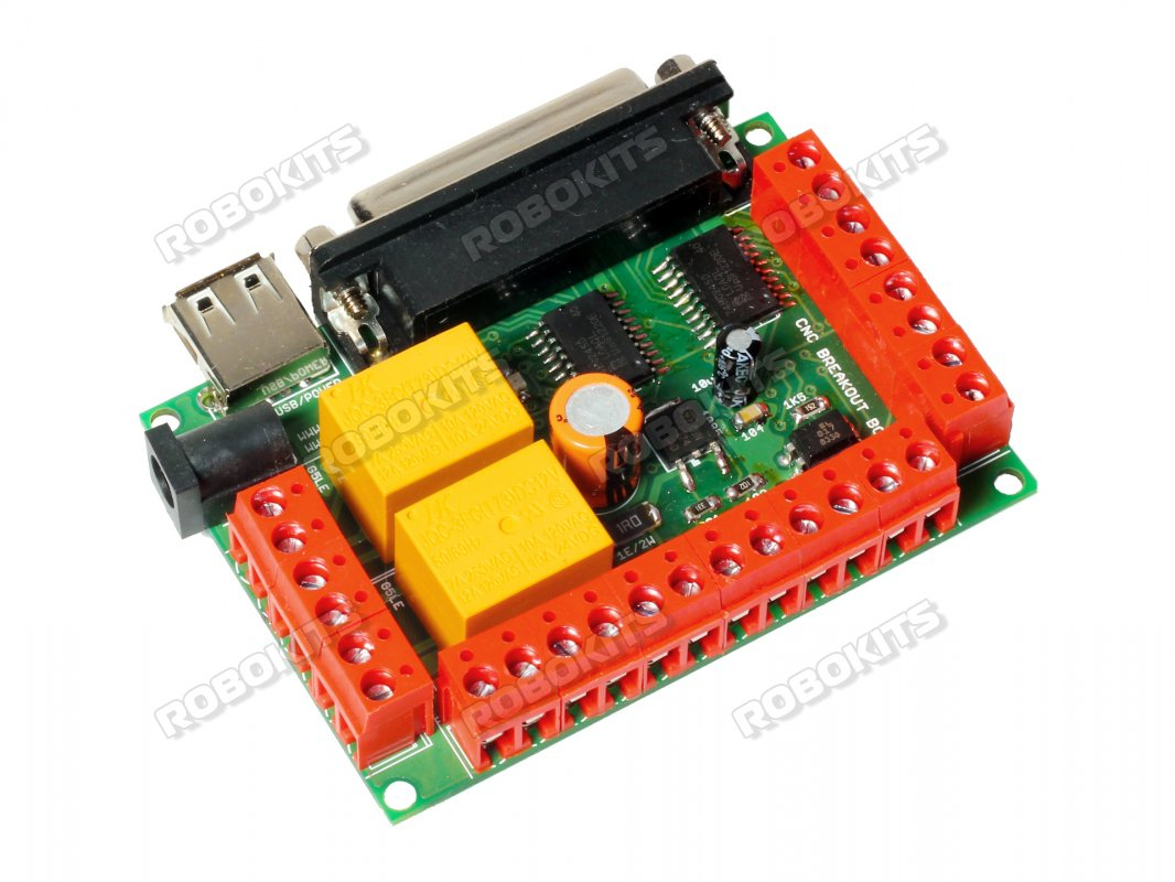 Parallel Port Buffered Breakout Board For 3 Axis Cnc [Rmcs-2401 - Usb Breakout Board Wiring Diagram For Limit Switches