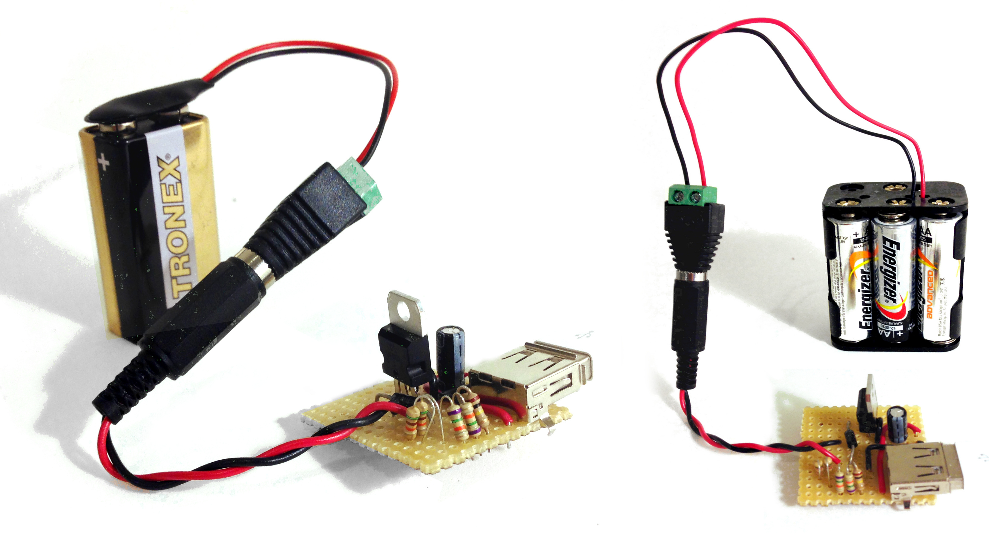 Portable Usb Charger Circuit - Build Electronic Circuits - Wiring Diagram To Go From Home Phone Jack To 5V Usb