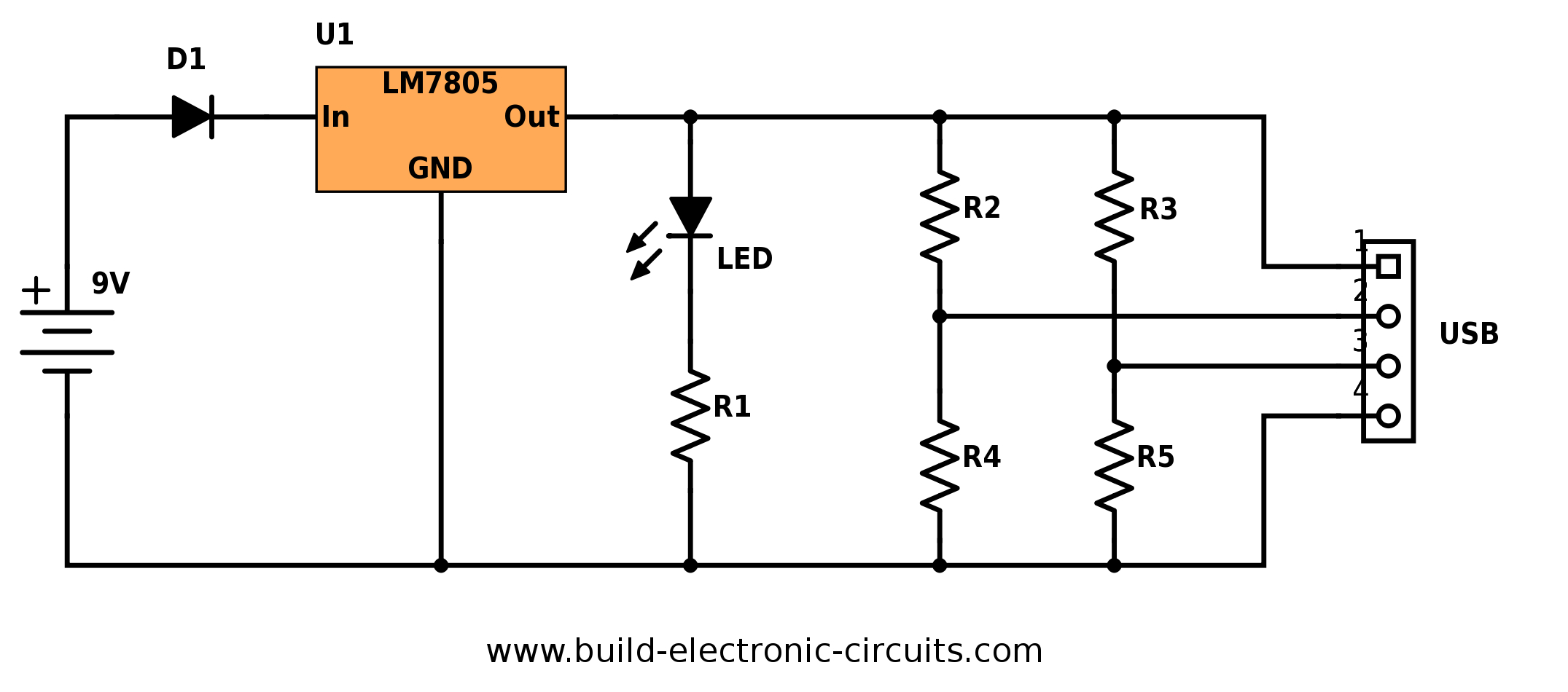Portable-Usb-Charger-Circuit-Diagram - Build Electronic Circuits - Diagram Of Usb Charger Wiring