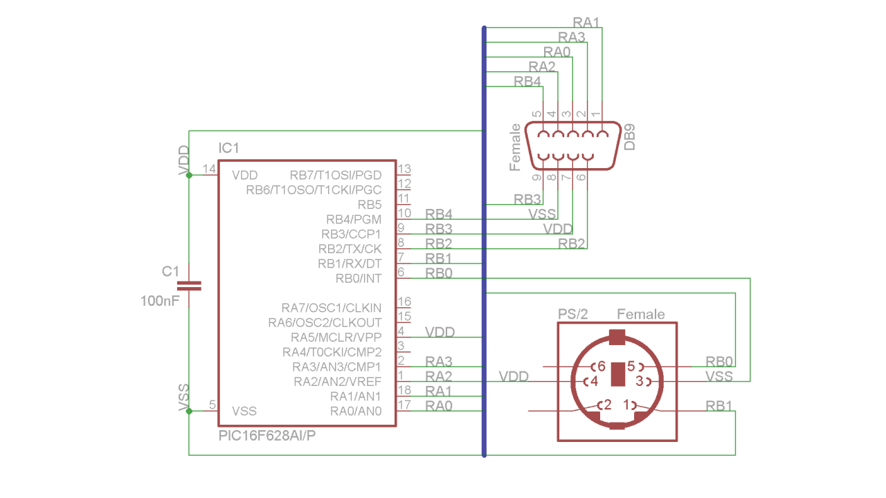 Ps/2 Mouse To Amiga Db9 Adapter | 16Bit Dust - Db9 To Usb Wiring Diagram