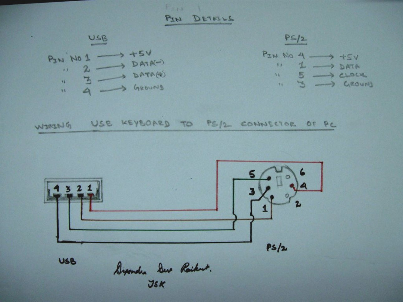 Ps2 To Usb Adapter Wiring Diagram | Wiring Diagram - Usb Keyboard To Ps2 Adapter Wiring Diagram