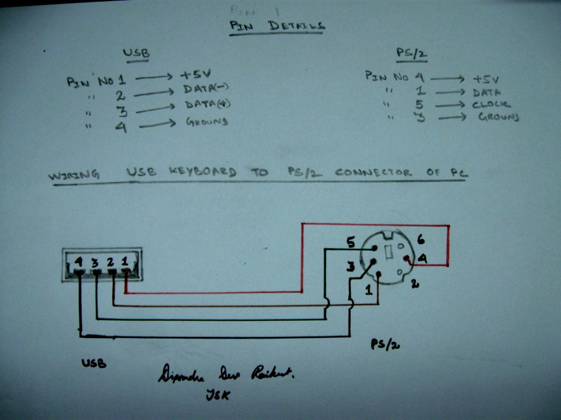 Ps2 To Usb Wiring Diagram Usb Ps 2 Convertor - Ps2 To Usb Wiring Diagram