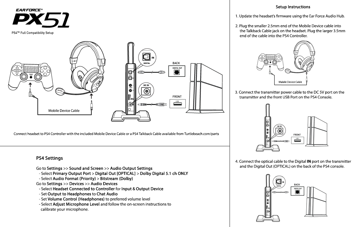 Ps4 Headset Compatibility – Turtle Beach - Microphone To Usb Wiring Diagram