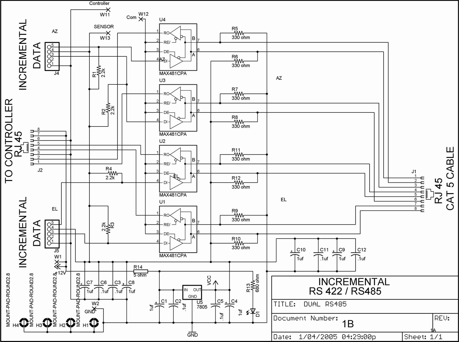 Rs485 - Rs485 To Usb Wiring Diagram