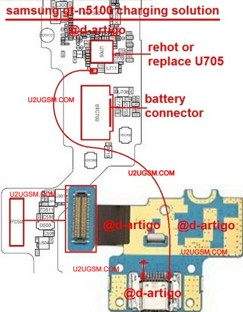 Samsung Galaxy Note Gt-N5100 Usb Charging Problem Solution Jumper - Repair Usb Wiring Diagram