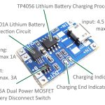 Scavenger's Blog: Lithium Battery Charger Using Tp4056.   Tp4056 Usb Charger Wiring Diagram