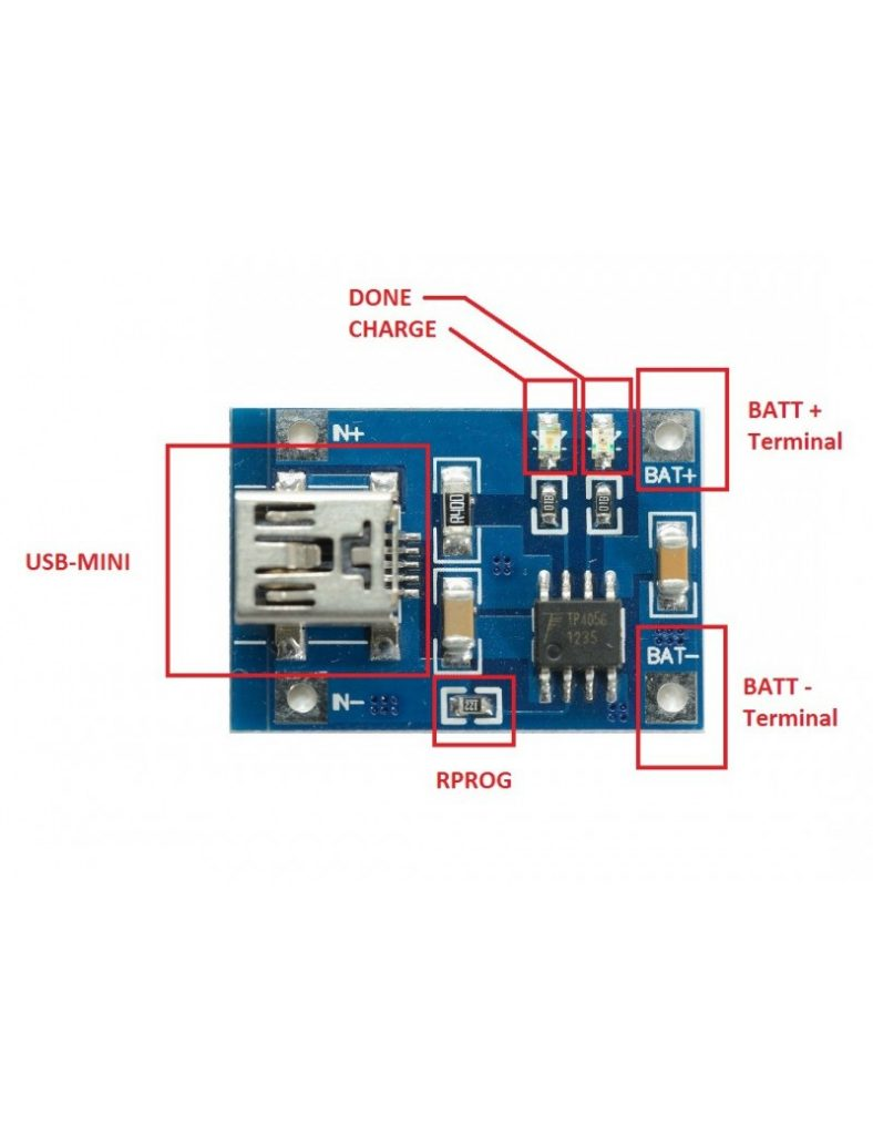 Tp4056 1a Rechargeable Charging Board Charger Module