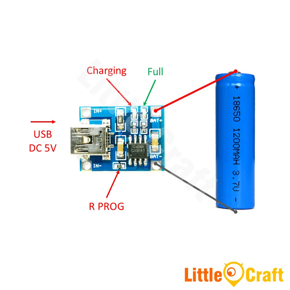 Tp4056 Single Cell 1A Li-Ion Batte (End 12/10/2020 12:00 Am) - Tp4056 Usb Charger Wiring Diagram