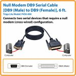 Tripp Lite 6Ft Null Modem Serial Rs232 Cable Adapter Db9 To Bd25 F/m   Modem Usb To Db9 Wiring Diagram