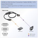 Tripp Lite Hdmi To Vga Adapter Converter Cable Active M/m 1080P   Vga To Usb Cable Wiring Diagram