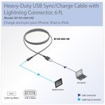 Tripp Lite Heavy Duty Lightning To Usb Sync / Charge Cable Apple   Iphone Charging Cord Plug Usb Wiring Diagram