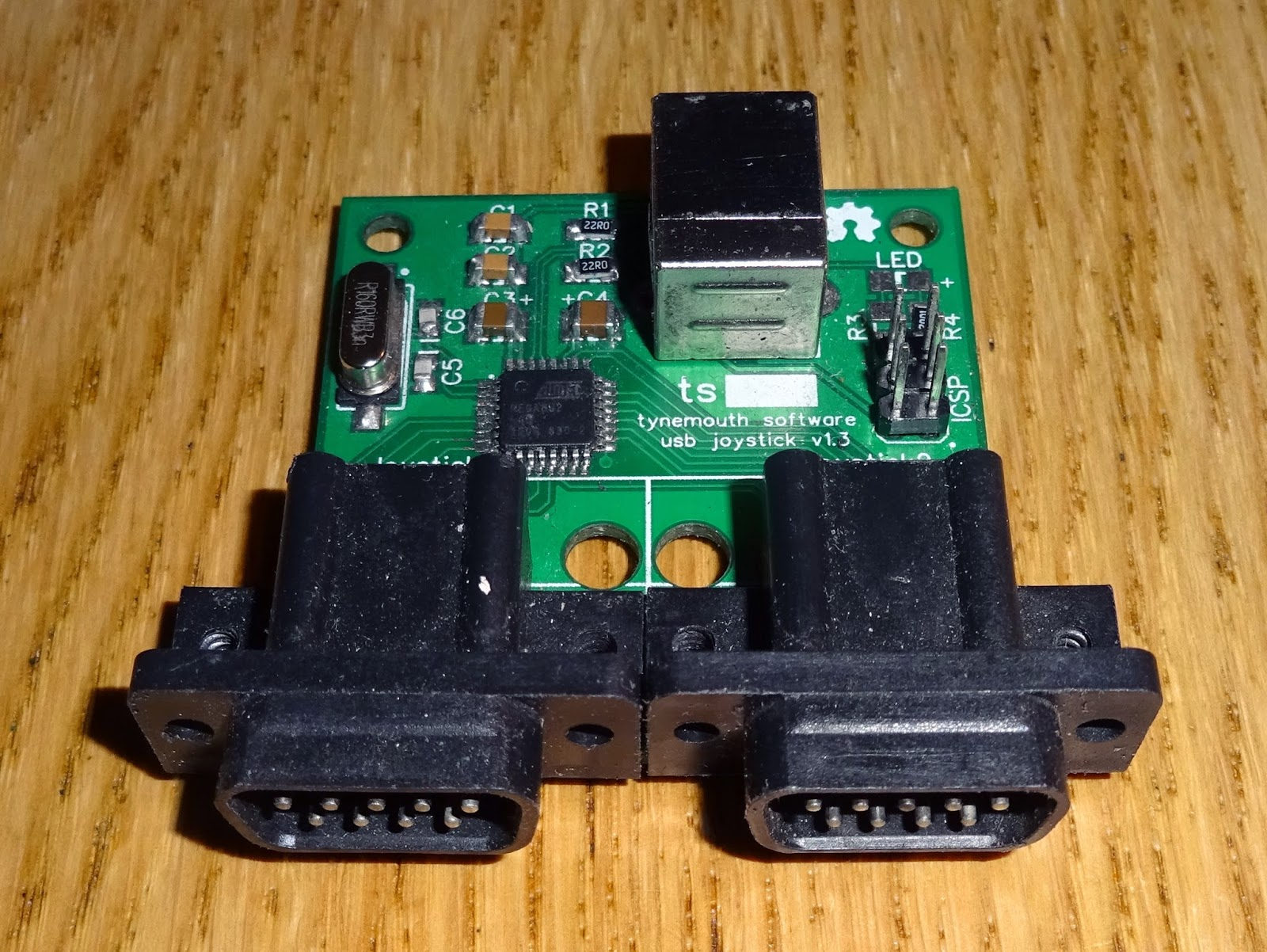 Tynemouth Software: Atari / Commodore 9 Way D Usb Joystick Adapter - Usb To Joystick Adapter Wiring Diagram