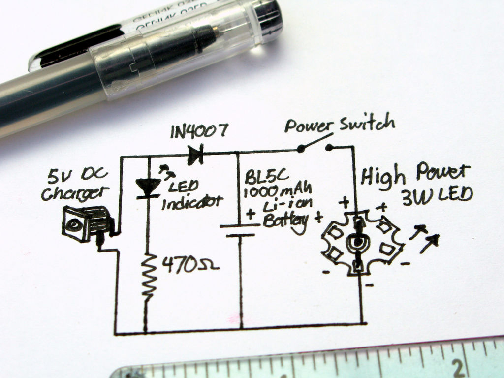 Ultrabright Led Emergency Lamp (Rechargeable!): 9 Steps (With Pictures) - Ultra Bright Led Lantern With Usb Wiring Diagram