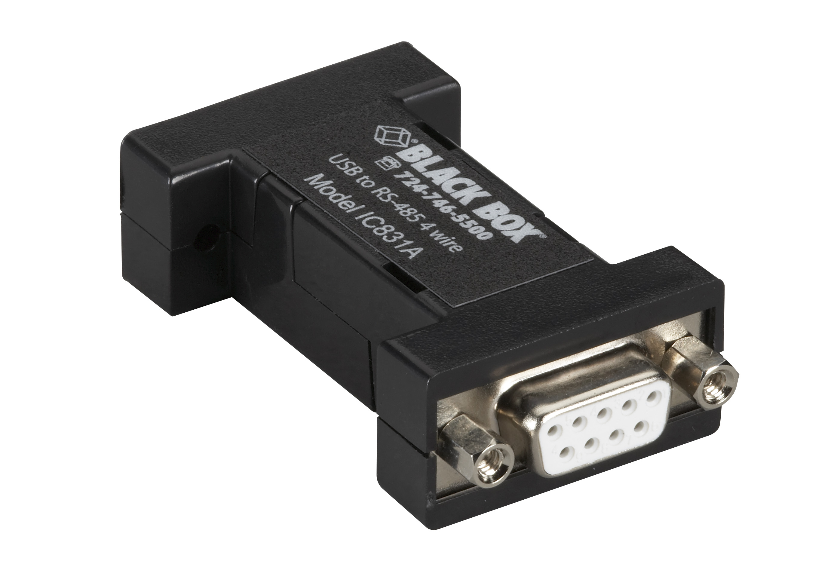 Usb 2.0 To Rs485 4-Wire Converter, Db9, 1-Port | Black Box - Usb To Rs485 Wiring Diagram
