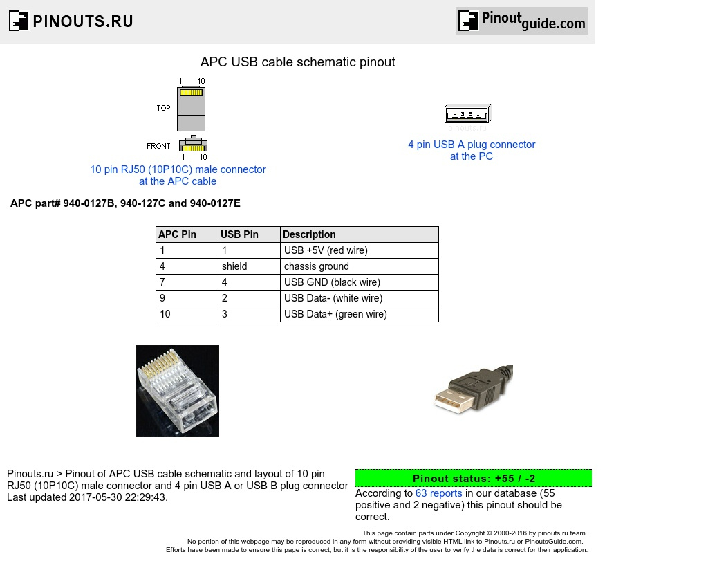 Usb 4 Wire Diagram Apc Usb Cable Schematic Pinout Diagram Com Usb - Wiring Diagram For Usb Charger
