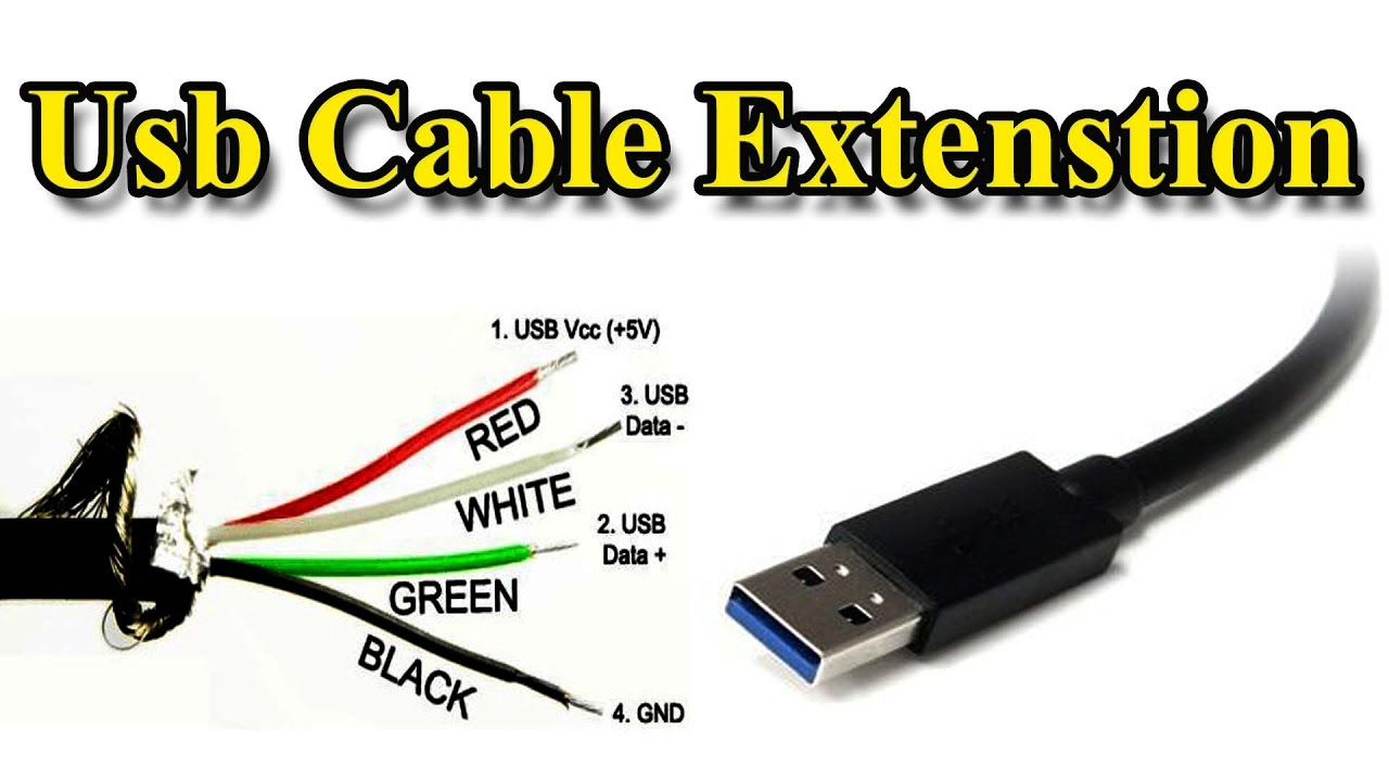 Usb Cable | Extension Different Wire Color - Youtube - Usb Extension Cable Wiring Diagram