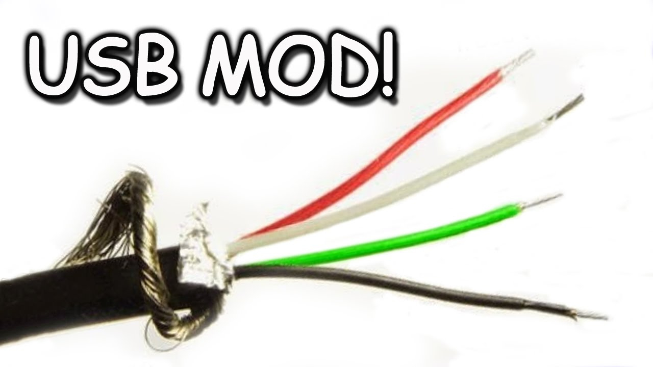 Usb Cord Modding, Extending, Splicing - Youtube - 6 Prong Usb Wiring Diagram