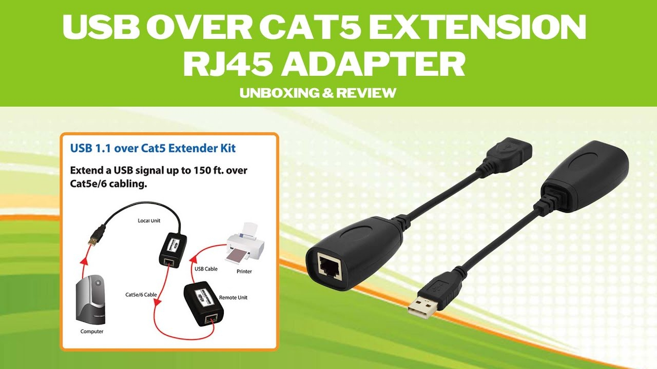 Usb Over Cat5 Extension Rj45 Adapter (Unboxing & Review) - Youtube - Usb Extend Over Cat5 Wiring Diagram