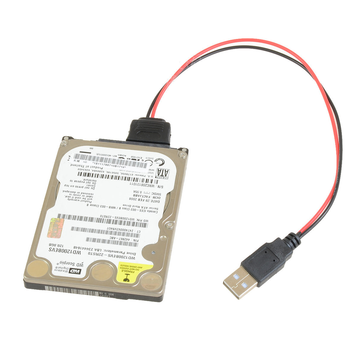 Usb To 2.5 Ssd 5-Pin Sata Power Adapter Cable (20Cm) - Moddiy - Usb 2.0 To Sata Adaptor Cable Wiring Diagram
