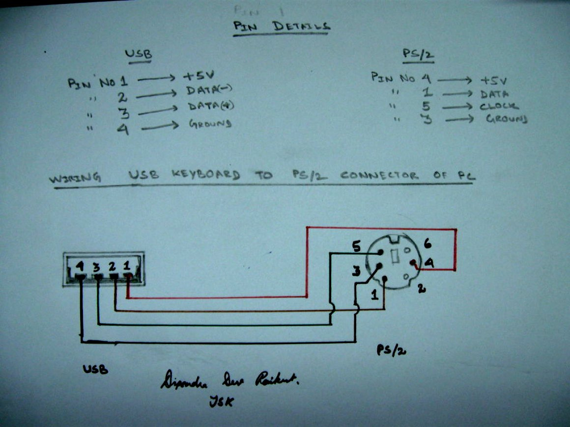 Usb To Ps2 Wiring Diagram | Best Wiring Library - Ps2 Usb Wiring Diagram
