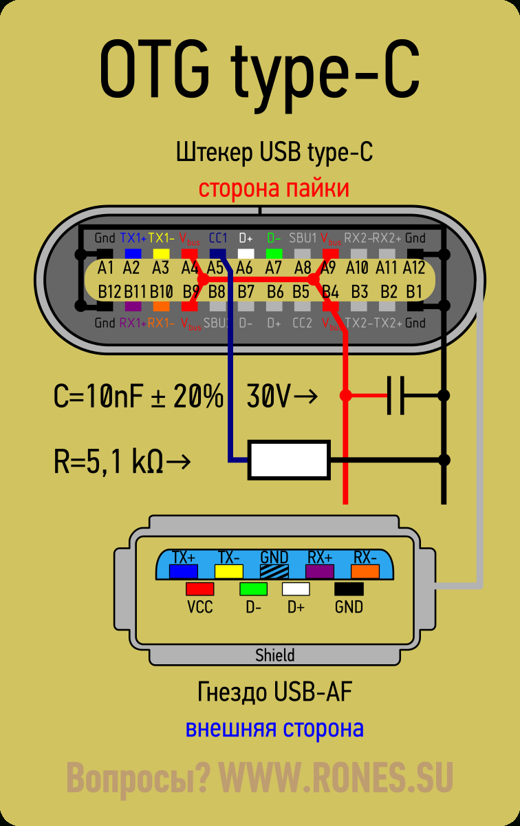 Usb Type-C. Коротко И Ясно | Elektronyk In 2019 | Pinterest - Usb 3.1 Wiring Diagram