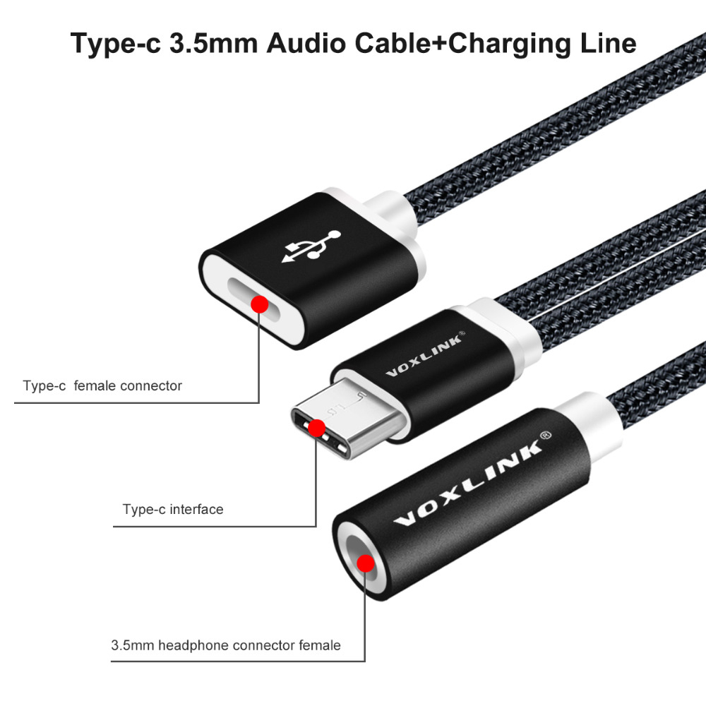 Voxlink Usb C Cable Usb Type C To 3.5Mm Audio Jack Headphone Cable - Usb To 3.5 Mm Jack Adapter For Charging Wiring Diagram