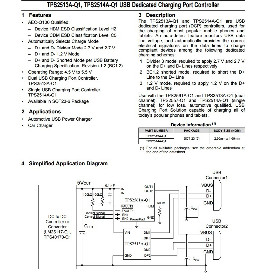 What Is The Ideal Way To Handle Data Pins D+ And D- On A Usb Power - Micro Usb Wall Charger Wiring Diagram