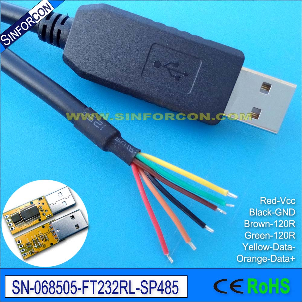 Win8 Win10 Android Mac Ftdi Ft232Rl Usb Rs485 Adapter Cable - Usb-Rs485-We Wiring Diagram
