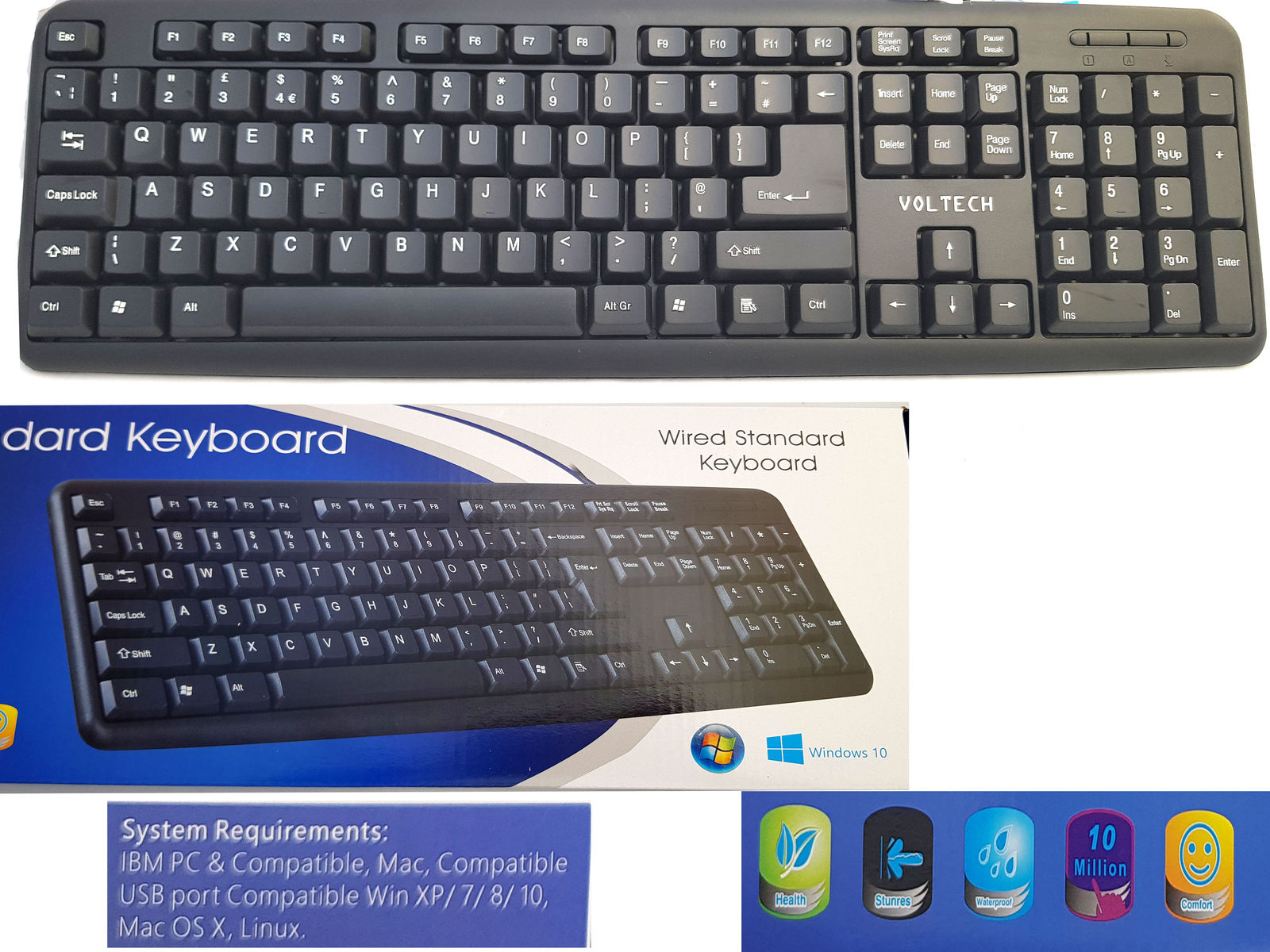 Wired Usb Keyboard For Laptop Dell Hp Pc Computer Desktop Notebook - Dell Usb Keyboard Wiring Diagram Keystrokes