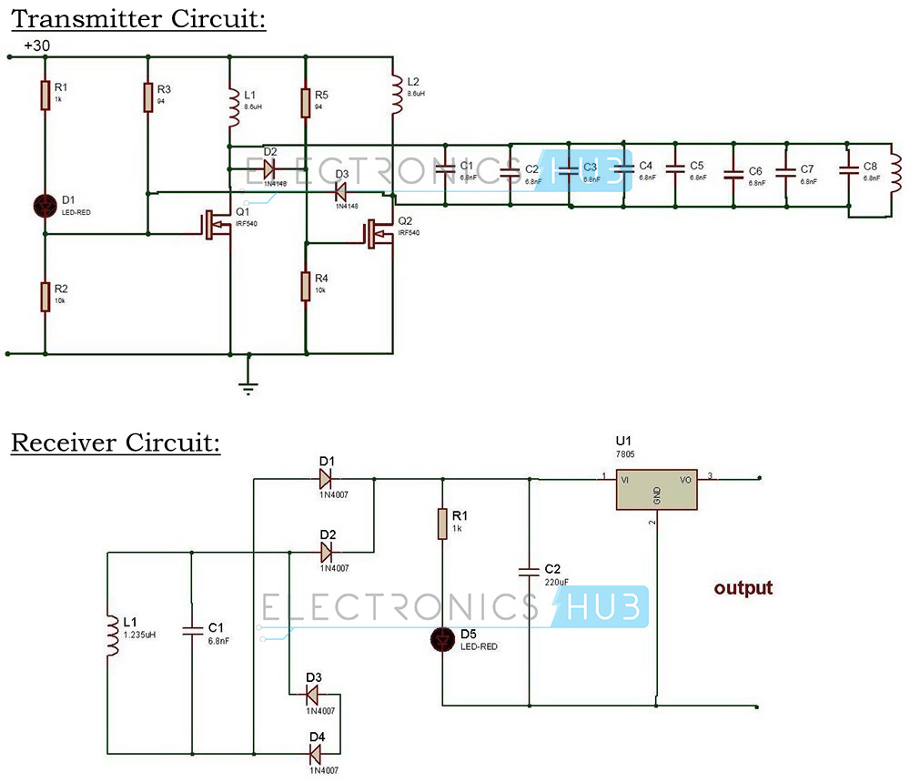 Wireless Power Transfer Circuit | Wireless Mobile Charger - Diy Power Bar Wiring Diagram Usb Charger