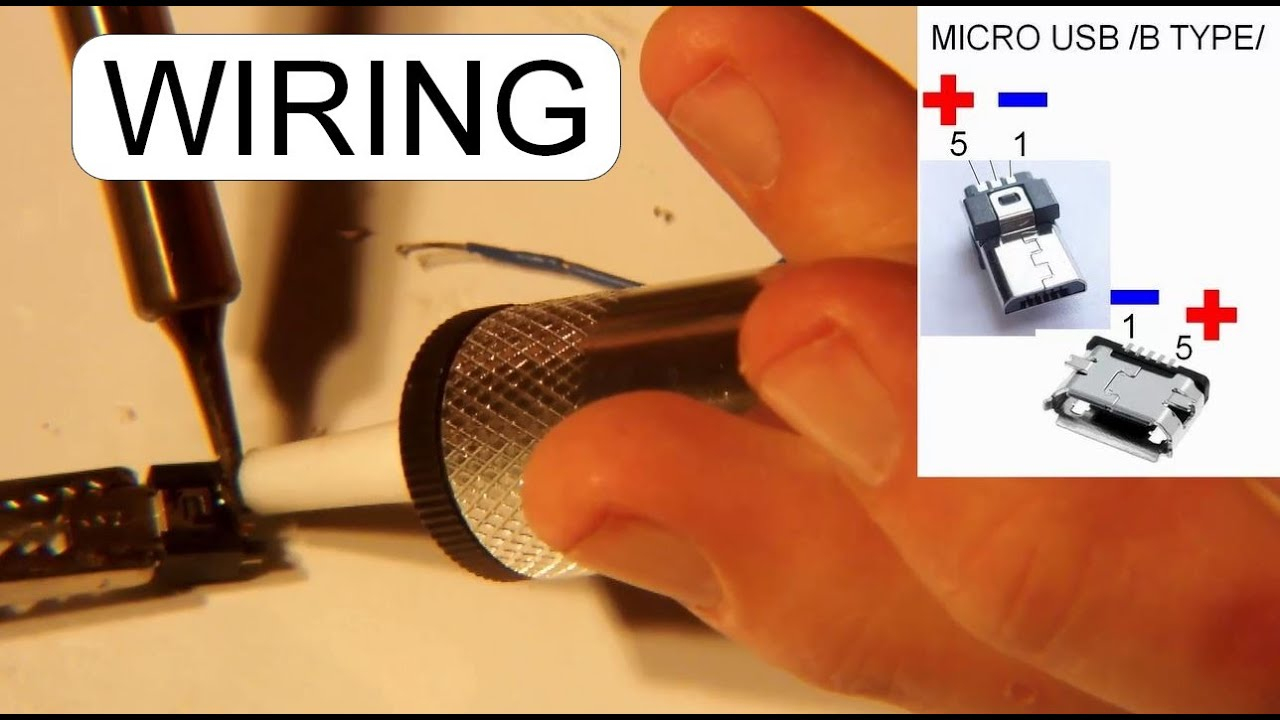 Wiring Micro Usb Male Connector - Youtube - Usb Male To Femaile Wiring Diagram